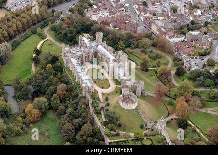 Aerial view of Arundel West Sussex