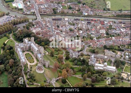 Aerial view of Arundel, west Sussex