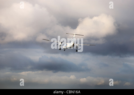 Flybe Dash 8 aircraft - Stock Photo