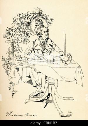 Thomas Moore, 1779 – 1852. Irish poet, singer, songwriter, and entertainer. - Stock Photo