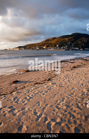 View of Barmouth from 'the point' in Fairbourne - Stock Photo