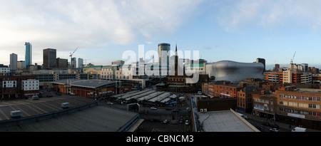 Birmingham city centre skyline - Stock Photo