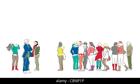 Group of people waiting - Stock Photo