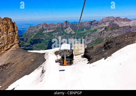 The Ice Flyer Chair Lift on Mount Titlis, Swiss Alps Stock ...