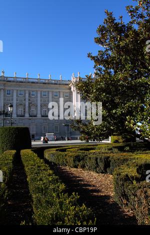 Palacio Real in Madrid, Spain - Stock Photo