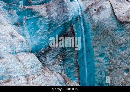 Melt water off the Exit Glacier, Kenai Fjords National Park, Seward, Alaska - Stock Photo