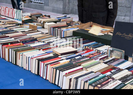 Book Market. Books in a Row. - Stock Photo