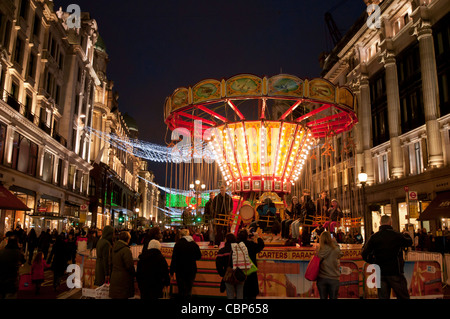 Regents Street at Christmas,London,England - Stock Photo