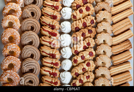 Lots of christmas cookies - Stock Photo
