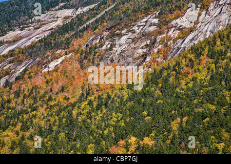 Scenes from Crawford Notch State Park in the White Mountains, New Hampshire. - Stock Photo