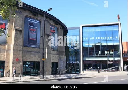 Camden Roundhouse, the trendy performing arts venue in Chalk Farm, North London, UK - Stock Photo