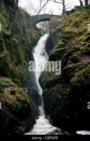 Aira Force, Ullswater, Lake District, Cumbria, UK - Stock Photo