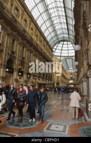 Galleria Vittorio Emanuele II shopping centre Milan Lombardy region Italy Europe - Stock Photo