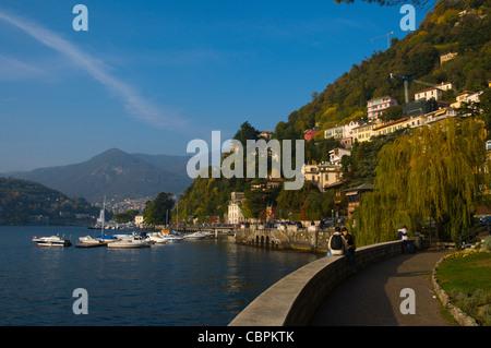 Lago di Como the Como lake at Como town Lombardy region Italy Europe - Stock Photo
