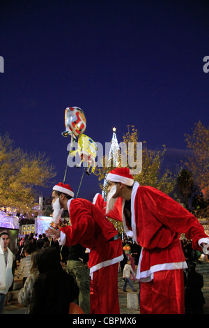Israel, Lower Galilee, Christmas celebration in Nazareth - Stock Photo