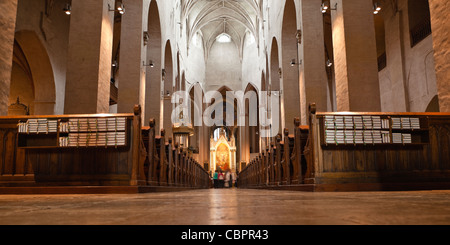 turku, finland: interior of turku cathedral - Stock Photo