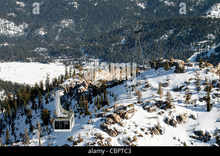 Cable car in Squaw Valley - Stock Photo