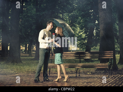 dating in park - Stock Photo