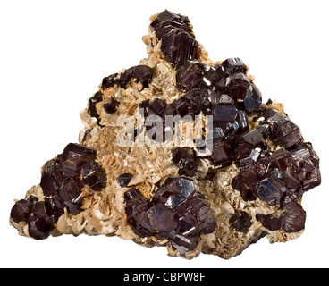Sphalerite with Siderite, Eagle Mine, Gilman, Colorado - Stock Photo