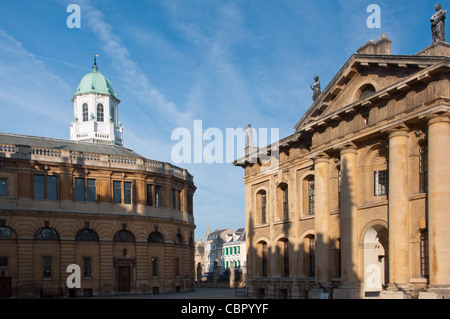 The Clarendon Building and Sheldonian theatre, Oxford, Oxfordshire, England, UK, Europe. - Stock Photo