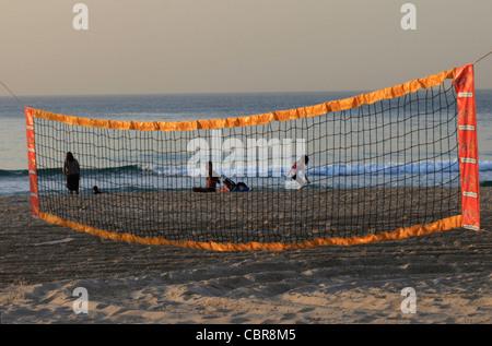 Bugrashov beach Tel Aviv Israel - Stock Photo