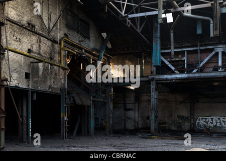 Dark Dirty Factory Warehouse Abandoned Old Empty Stock