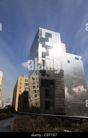 USA Manhattan New York City Building with reflection - Stock Photo
