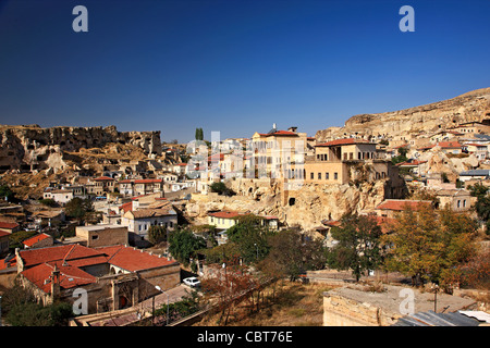 Photo from Urgup town, where you can see some old Greek housesNevsehir, Cappadocia, Turkey. - Stock Photo