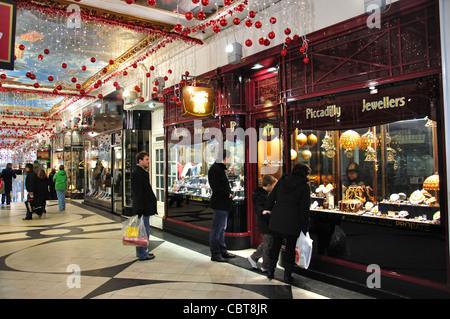 Piccadilly Arcade at Christmas, New Street, Birmingham, West Midlands, England, United Kingdom - Stock Photo