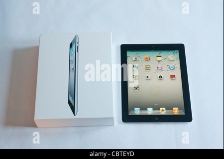 The iPad 2 is the second generation of the iPad, the digital tablet is developed and marketed by Apple. Released - Stock Photo