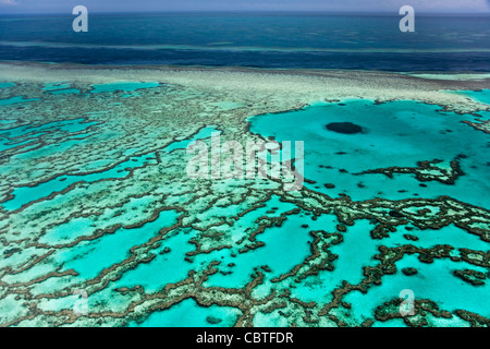 The channel of water known as the River near Hardy Reef, off the Whitsunday coast, Queensland, Australia. - Stock Photo