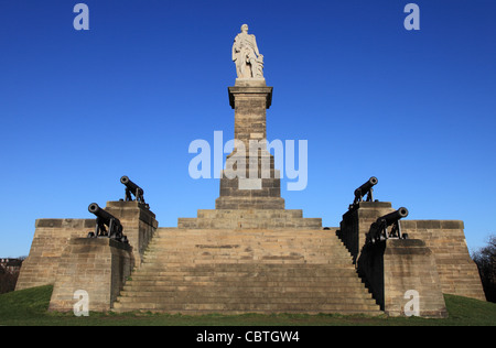 Statue of Admiral Lord Collingwood, Tynemouth, north east England,UK - Stock Photo