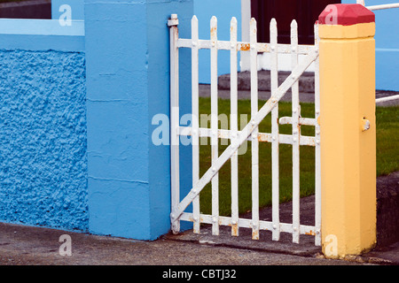 Front gate of a house in Dunmanway, County Cork, Republic of Ireland. - Stock Photo