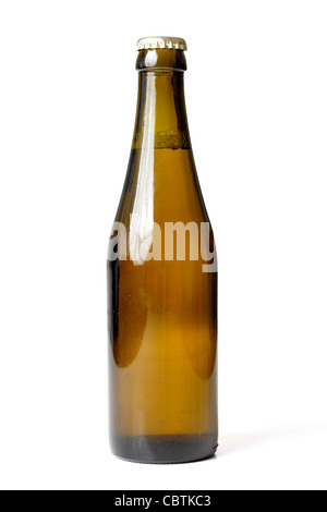 A beer bottle isolated on white - Stock Photo