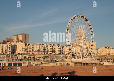 The Brighton Wheel (ferris wheel) on Brighton seafront, East Sussex, England. - Stock Photo