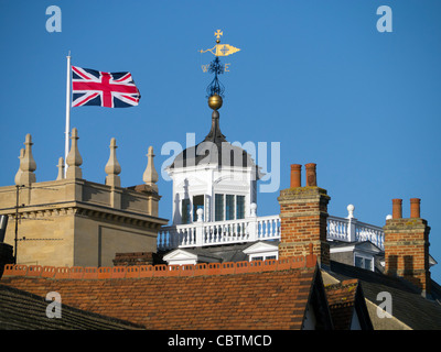 Abingdon-on-Thames museum and rooftops - Stock Photo