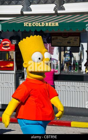 Bart Simpson character at Universal Studios Orlando Florida - Stock Photo