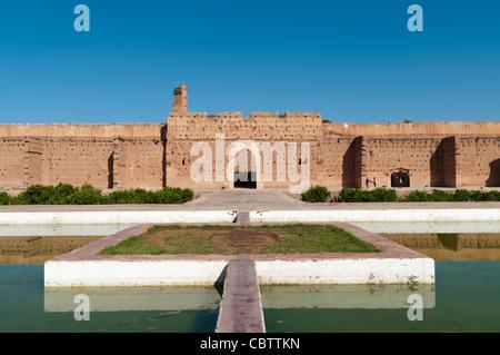 El Badi Palace ruins, Marrakech,Morocco - Stock Photo