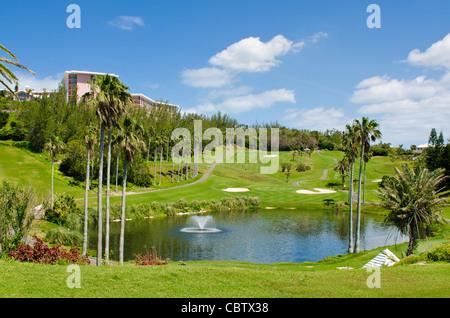 Bermuda. Fairmont Southampton Hotel and Golf Club, Bermuda. - Stock Photo