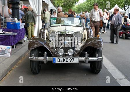 Car Jaguar SS100 - Stock Photo