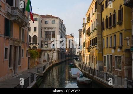 Fondamenta del Rio Marin o dei Garzoti canal San Croce district Venice the Veneto region northern Italy Europe - Stock Photo