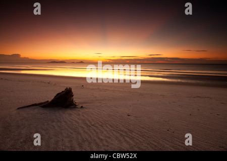 Daybreak at Punta Chame on the Pacific coast, Panama province, Republic of Panama. - Stock Photo
