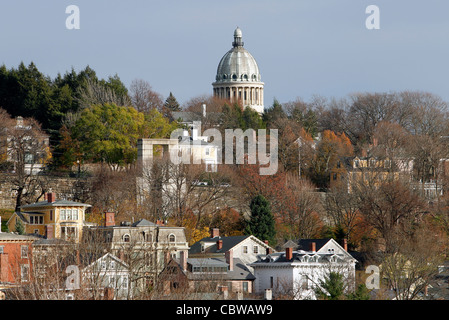 First Church of Christ Scientist on College Hill, Providence, Rhode Island - Stock Photo