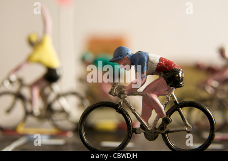 Cyclists, figurines - winner concept - Stock Photo