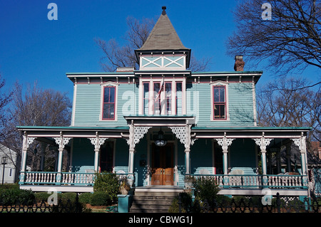 The Berryhill House, built in 1884, is one of the homes in Charlotte, North Carolina's historic Fourth Ward. - Stock Photo