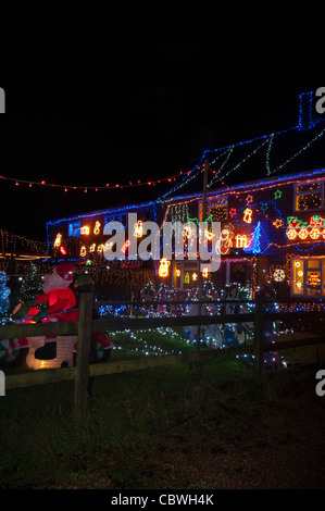 Westfield Christmas Xmas Lights East Sussex UK - Stock Photo