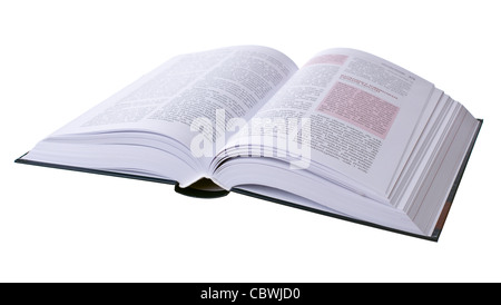 Opened book isolated on white background - Stock Photo
