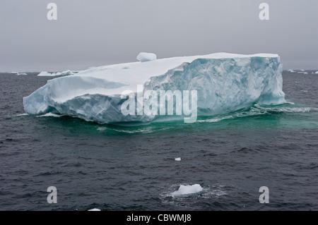 ICEBERG CRYSTAL SOUND, ANTARCTIC CIRCLE ANTARCTICA - Stock Photo