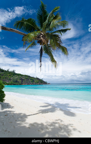 Four Seasons resort beach, Mahe, Seychelles - Stock Photo