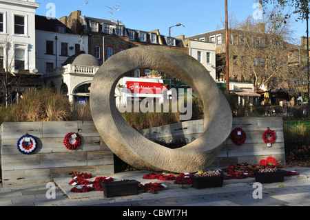 War Memorial, Islington Green, London, England, UK - Stock Photo